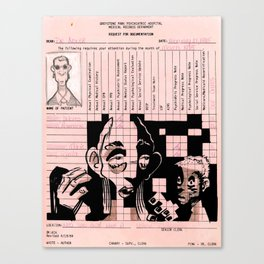 Greystone Park Psychiatric Hospital Records - New Jersey Canvas Print