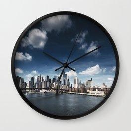 nyc skyline panoramic view Wall Clock