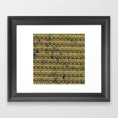 Faded Gold Pattern Framed Art Print