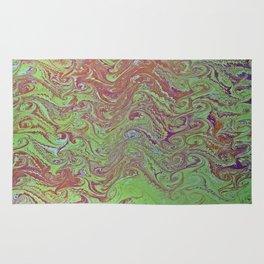 Thermal Curls Water Marbling Rug