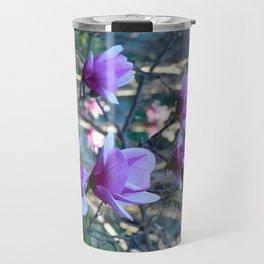 Beautiful purple magnolias Travel Mug