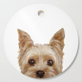 Yorkshire Terrier original painting print Cutting Board
