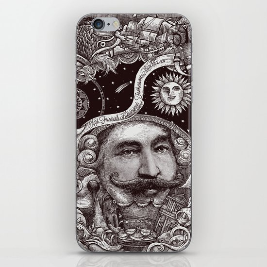 Baron von Munchausen iPhone & iPod Skin