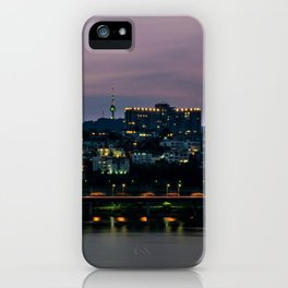 Purple Skies Over Seoul iPhone Case