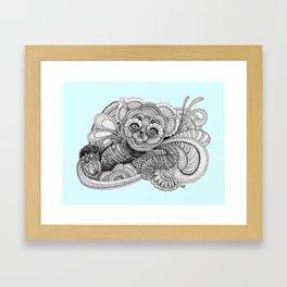 Be'er blue Framed Art Print