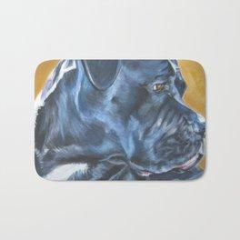 A Cane Corso dog portrait from an original painting by L.A.Shepard Bath Mat