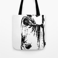 lacrosse Tote Bags featuring The lacrosse wizard by laxwear