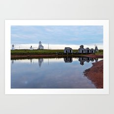 Wood Islands Provincial Park and Lighthouse Art Print
