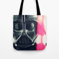 vader Tote Bags featuring Vader by Fanboy30