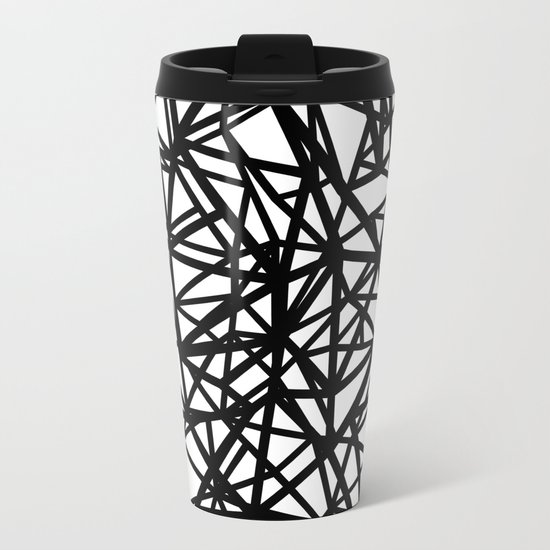 Ab  Out T Double Metal Travel Mug
