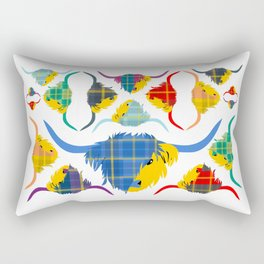 Tartan Hairy Coos Rectangular Pillow