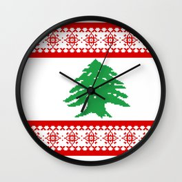 The Cedar - Christmas Edition Wall Clock