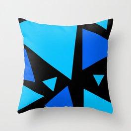 Tri - Turquoise Throw Pillow