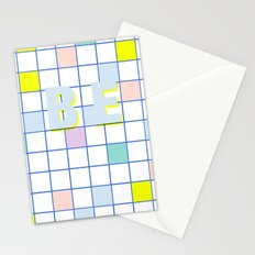 Be Windowpane Grid Stationery Cards