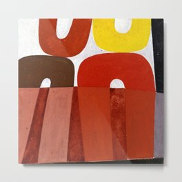 Sophie Taeuber Arp Composition with Arc Patterns Metal Print