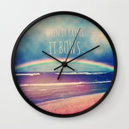 When It Rains, It Bows Wall Clock