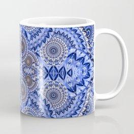 Blue Mind Healing Dimensional Boho Mandala Coffee Mug