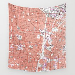 Vintage Map of South Gate California (1964) Wall Tapestry