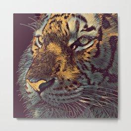 THE TIGER 001 - The Dark Animal Series Metal Print