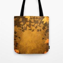 Leaves Falling Darkly Tote Bag