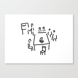 meeting with presentation occupation Canvas Print