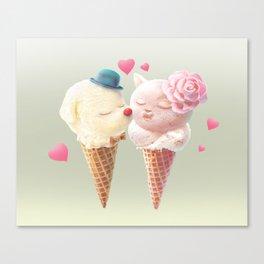 Ice Cream Love Canvas Print