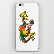 Amazing basketball player performing an acrobatic jump iPhone & iPod Skin
