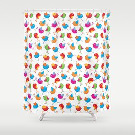 Colorful birds. Shower Curtain