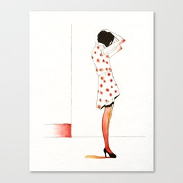 Young Woman Waiting Canvas Print