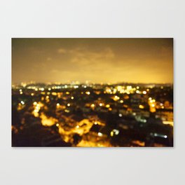 but if the bright lights don't receive you Canvas Print