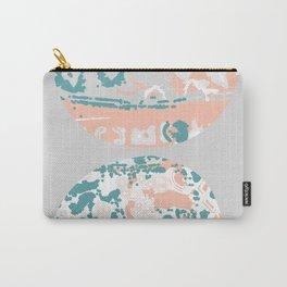 Pastel Pom Pom Carry-All Pouch