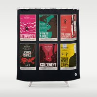 bond Shower Curtains featuring Bond #3 by Alain Bossuyt