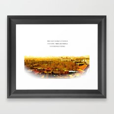 the past is like a foreign country. Framed Art Print