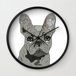 Frenchie Bulldog Puppy Wall Clock