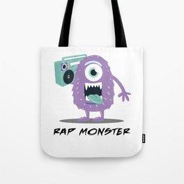 Rap Monster Cartoon Cute Halloween Monster Boombox Light Tote Bag