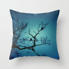 Pigeon Silhouette  Throw Pillow