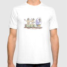 Sheepish  MEDIUM Mens Fitted Tee White