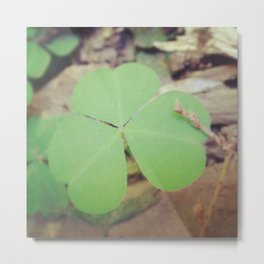 Luck Of The Clover Metal Print