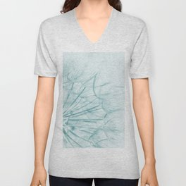 Dandelion In Blue Unisex V-Neck