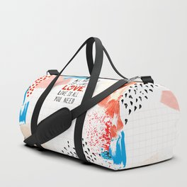 All You Need Is Love Duffle Bag