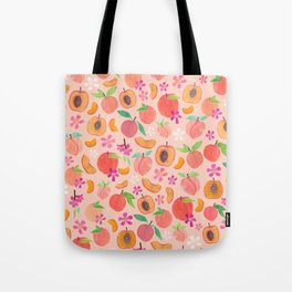 Apricot, Nectarine, & Peaches Tote Bag