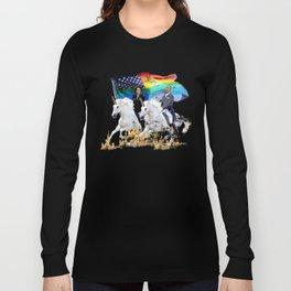 Preposterous Presidents - Barack and Michelle Obama - Unicorn Pride Long Sleeve T-shirt