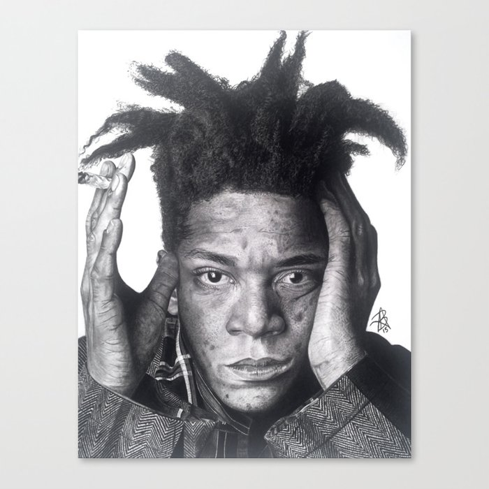Jean-Michel Basquiat Drawing Canvas Print
