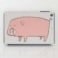 pig iPad Cases featuring Pig by ITEMLAB