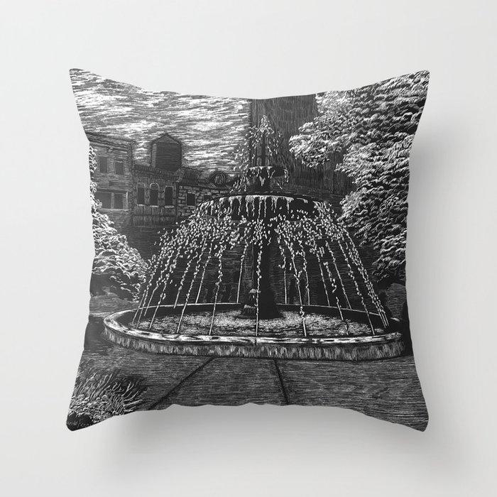 Gore Park Fountain Throw Pillow