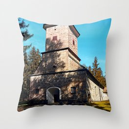 Maria Rast forest chapel | architecture photography Throw Pillow