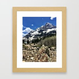 : majestic maroon : Framed Art Print