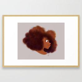 Afro Profile Framed Art Print