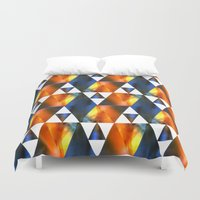 triangles Duvet Covers featuring triangles by haroulita