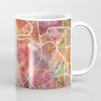 rome Mugs featuring Rome by MapMapMaps.Watercolors